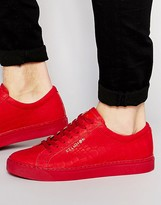 Religion Leather Croc Sneakers