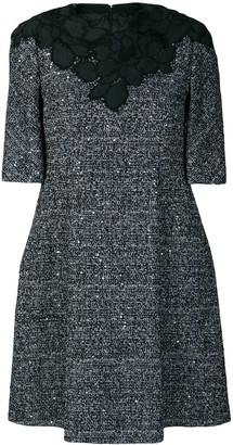 Talbot Runhof embellished tweed dress