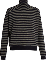 Vince Breton-striped high-neck cashmere sweater