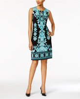 JM Collection Mixed-Print Sheath Dress, Only at Macy's