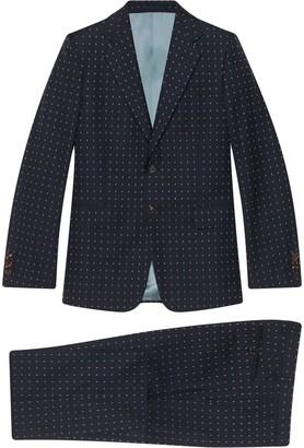 Gucci Logo-Print Two-Piece Suit