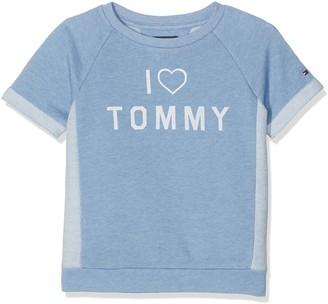 Tommy Hilfiger Girl's Reversed CN HWK S/S Sweatshirt