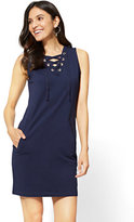 New York & Co. Lace-Up Dress