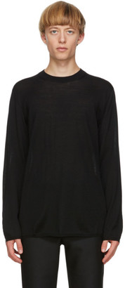 Comme des Garcons Black Worsted Yarn Sweater