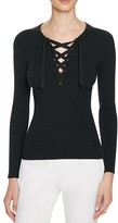 Theory Coryntha Evian Lace-Up Sweater - 100% Bloomingdale's Exclusive