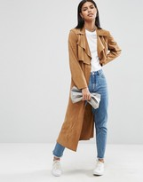 Asos Faux Suede Trench