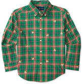 Ralph Lauren Plaid Embroidered Cotton Shirt