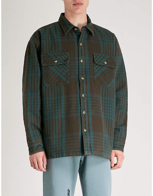 Yeezy Season 5 padded cotton-flannel shirt