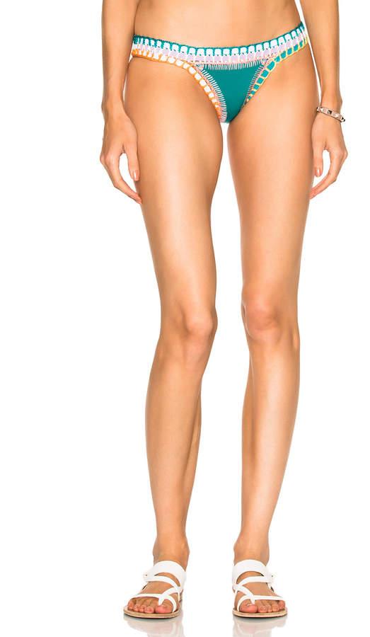 Kiini Liv Bikini Bottom in Jade Multi   FWRD