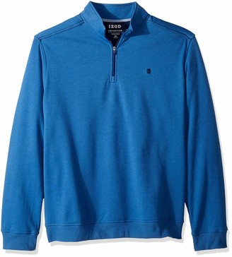 Izod Men's Big Advantage Performance Quarter Zip Fleece Pullover