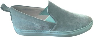Christopher Kane Turquoise Suede Trainers