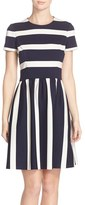 Eliza J Women's Stripe Knit Fit & Flare Dress