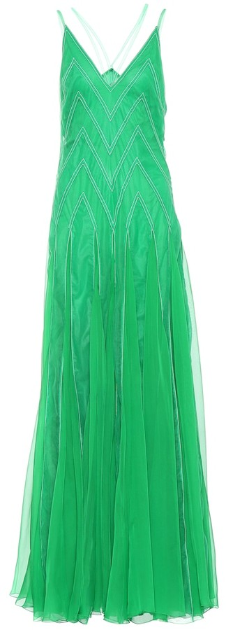 Valentino Patterned silk gown
