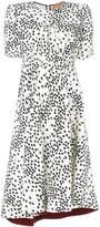 No.21 asymmetric print dress