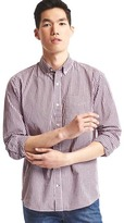 Gap True wash mini tattersall standard fit shirt