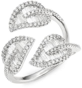 Anita Ko 18K Gold & Diamond Tri-Leaf Ring