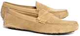Brooks Brothers Horween Suede Penny Driving Moccasins