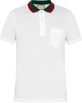 Gucci Stretch-cotton polo shirt