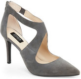 Jones New York Grey Christie Pointed Toe Cutout Pumps