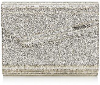 Jimmy Choo CANDY Champagne Glitter Acrylic Clutch Bag