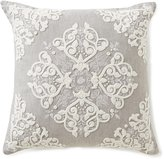 Southern Living Tile-Embroidered Linen Square Pillow