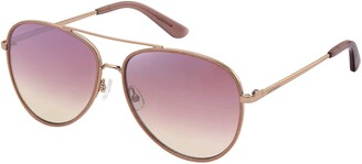 Juicy Couture Sunglasses Ju 599/S 0EYR Gold Pink/DC sup silver mirror lens