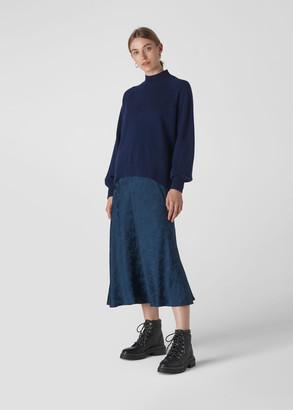 Funnel Neck Cashmere Knit