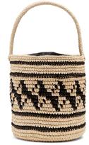 SENSI STUDIO Geometric-woven toquilla-straw basket bag