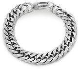 Steve Madden Stainless Steel Curb Chain Bracelet