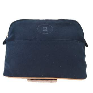 Hermes Bolide Black Cotton Travel bags
