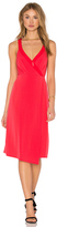 BCBGeneration Drape Front Midi Dress