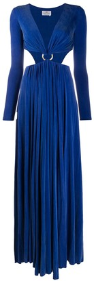 Elisabetta Franchi cut-out O ring dress