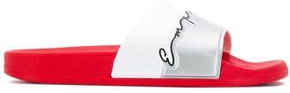 Emporio Armani signature logo slides