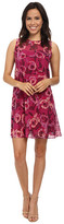 Donna Morgan Sleeveless Chiffon Floral Print Dress