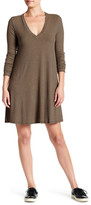 Lush Ribbed Long Sleeve Shift Dress