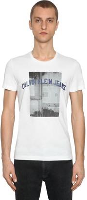 Calvin Klein Jeans PHOTOGRAPHIC BASKETBALL COTTON T-SHIRT