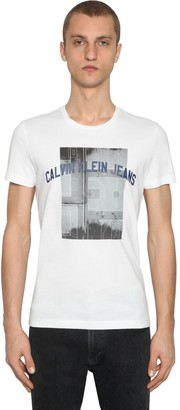 Calvin Klein Jeans Photographic Basketball Cotton T-Shirt