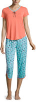 SLEEP CHIC Sleep Chic Capri Pajama Set