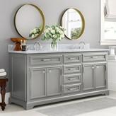 "Three Posts Bergin 72"" Double Bathroom Vanity Set Base Finish: Cashmere Gray"
