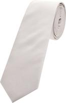 Oxford Silk Tie Pale Grey Reg