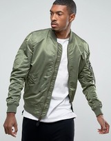 Alpha Industries Lightweight Reversible Ma-1 Vf Bomber Jacket In Green / Camo