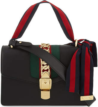 Gucci Women's Black Striped Sylvie Shoulder Bag