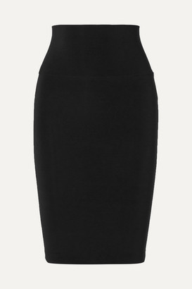 Norma Kamali Stretch-jersey Skirt - Black