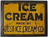 Rejuvenation Well Worn Framed Ice Cream Sign Fragment c1950s