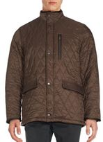 Rainforest Diamond Quilted Long Sleeve Jacket