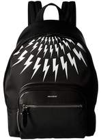 Neil Barrett Thunderbolt Fair Isle Flap Backpack Backpack Bags