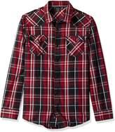 Burnside Men's Choice Longe Sleeve Button Down Woven Shirt, Black/Red, 2XLARGE