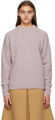 Tibi Purple Alpaca Slit Cuff Sweater