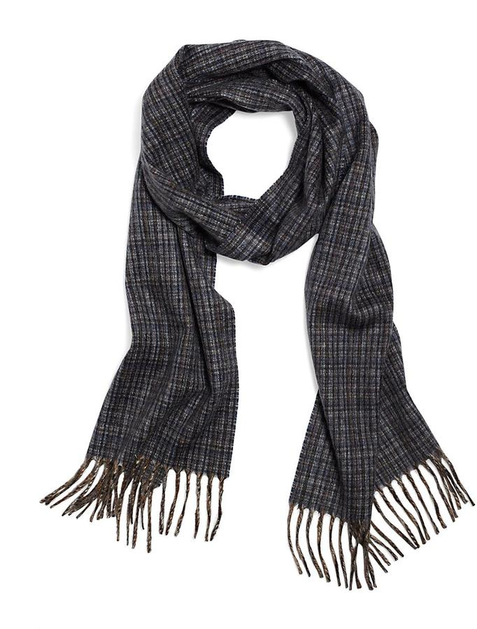 Brooks Brothers Cashmere Microplaid Scarf