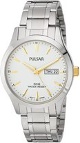 Pulsar Men's PXN203X Analog Display Japanese Quartz Silver Watch